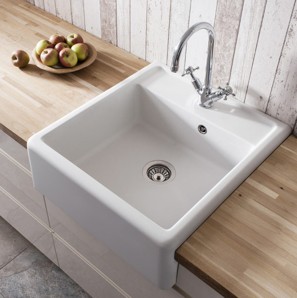 Ceramic Kitchen Sink : Crosswater Belgravia Ceramic Belfast Kitchen Sink KS_BL5963CW