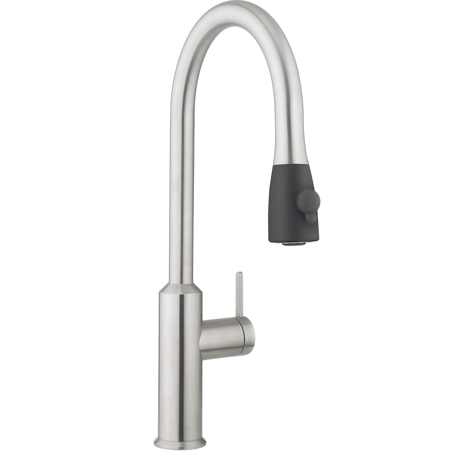 Crosswater cook side lever kitchen mixer with pull out spray stainless steel co717ds - Luisina mixer ...