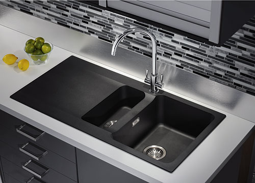 Franke Grey Sink : Franke Orion OID 651 Tectonite Kitchen Sink Carbon Black 114.0316.242