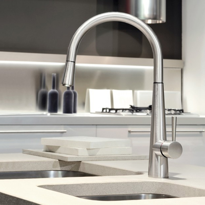 Gessi Just Monobloc With Pull Out Rinse Kitchen Tap