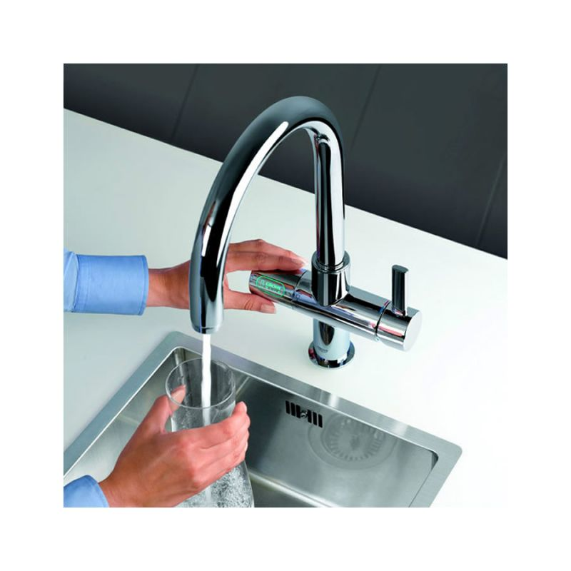 grohe blue mixer and cold filter tap with swivel c spout chrome 31087001. Black Bedroom Furniture Sets. Home Design Ideas