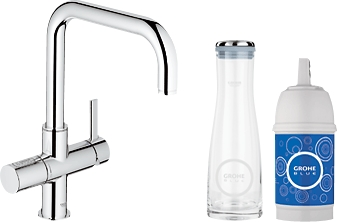 grohe blue starter pack u spout chrome 31338000. Black Bedroom Furniture Sets. Home Design Ideas