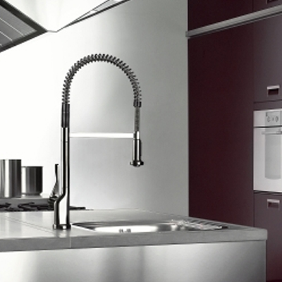 hansgrohe axor citterio single lever mixer with pull out spray 39835000. Black Bedroom Furniture Sets. Home Design Ideas