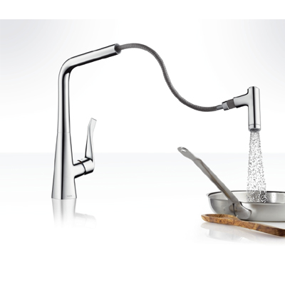 hansgrohe metris single lever kitchen pull out spray. Black Bedroom Furniture Sets. Home Design Ideas