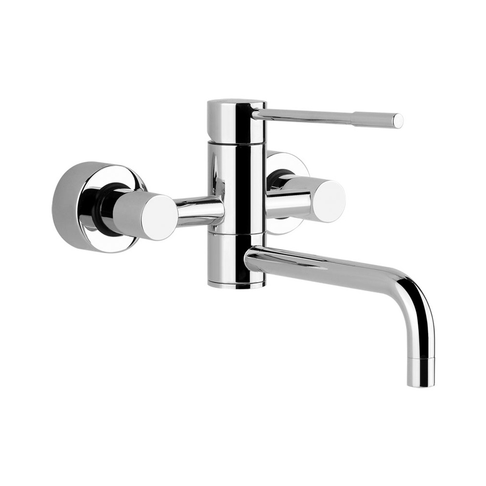 Gessi Oxygen Wall Mounted Mixer Brushed Nickel 13175149