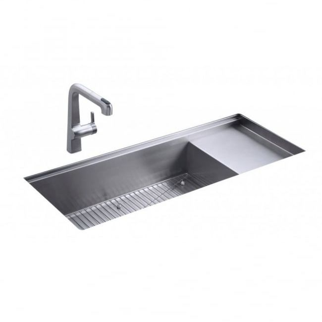 Kohler Stages Single Bowl And Drainer Undermount Kitchen Sink 3761